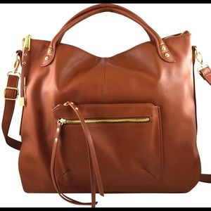 NWT Steve Madden faux leather shopper satchel